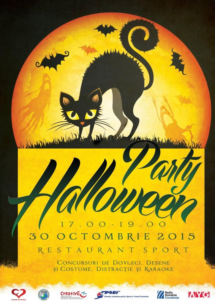 Afis Halloween - Asociația Civicum Voluntaris