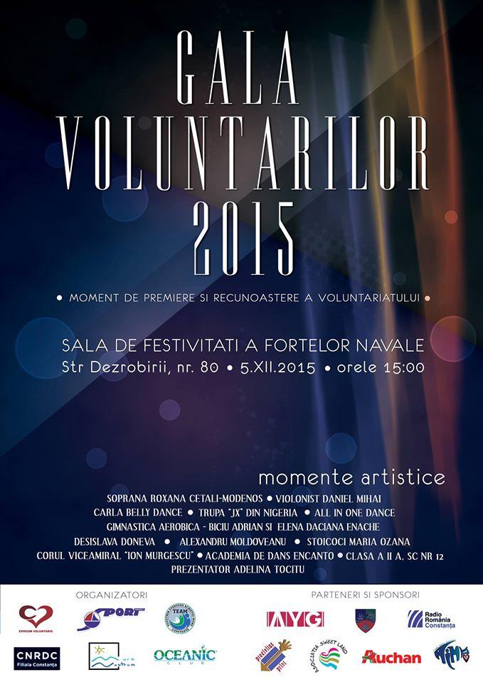 Afis Gala Voluntarilor